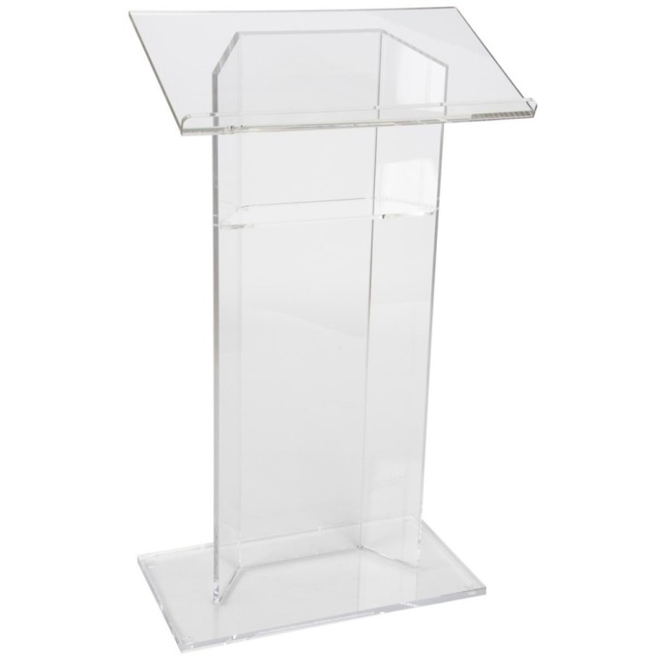 Acrylic-Podium-Lectern-with-Shelf-Plexiglass-Plastic