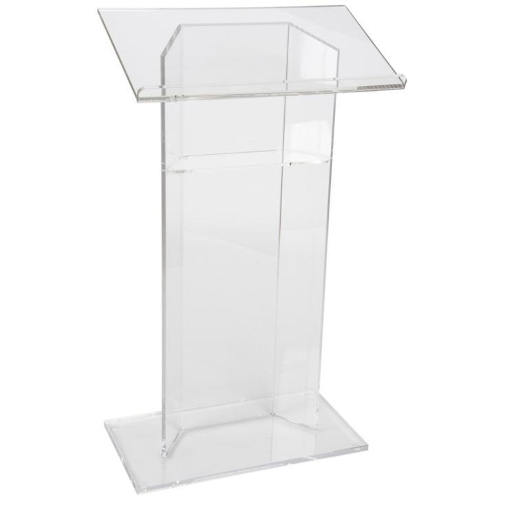 Acrylic-Podium-Lectern-with-Shelf-Plexiglass-Plastic